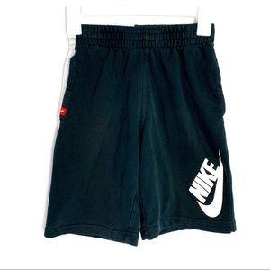 Nike boys youth medium black cotton shorts